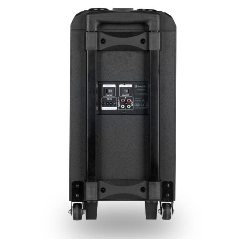 Altavoz Bluetooth Portátil NGS WILDSKAZERO 120W Negro/Rojo (1)