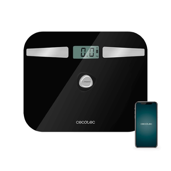 Digital Bathroom Scales Cecotec EcoPower 10200 Smart Healthy LCD Bluetooth 180 kg Black
