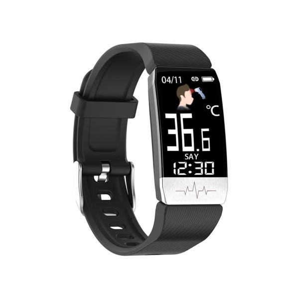 "Pulsera de Actividad KSIX Thermometer HR 1,4"" Bluetooth 90 mAh Negro (1)"