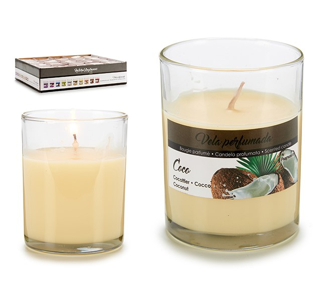 Scented Candle Coconut (7 x 8,3 x 7 cm)