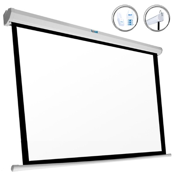 Electric Wall Screen iggual PSIES240 White (240 x 240 cm)