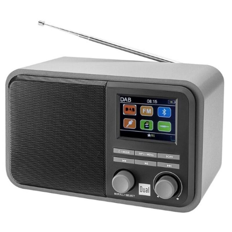 PortableBluetooth Radio Dab 51 USB SD FM MP3 Grey (Refurbished A+)