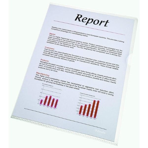 Document Folder Esselte Transparent (100 pcs) (Refurbished A+)