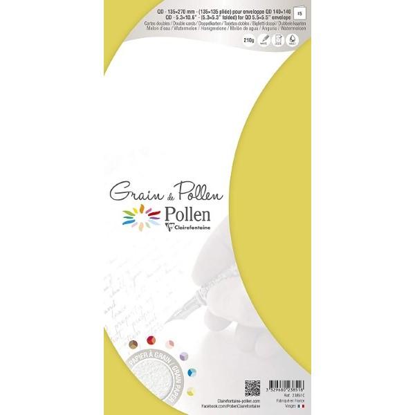 Congratulations Card 23851C Double Yellow (13,5 x 13,5 cm)(5 pcs) (Refurbished A+)
