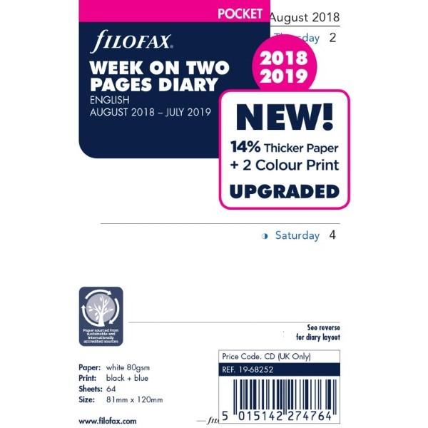Agenda 2018/2019 68252 Pocket English (Refurbished A+)