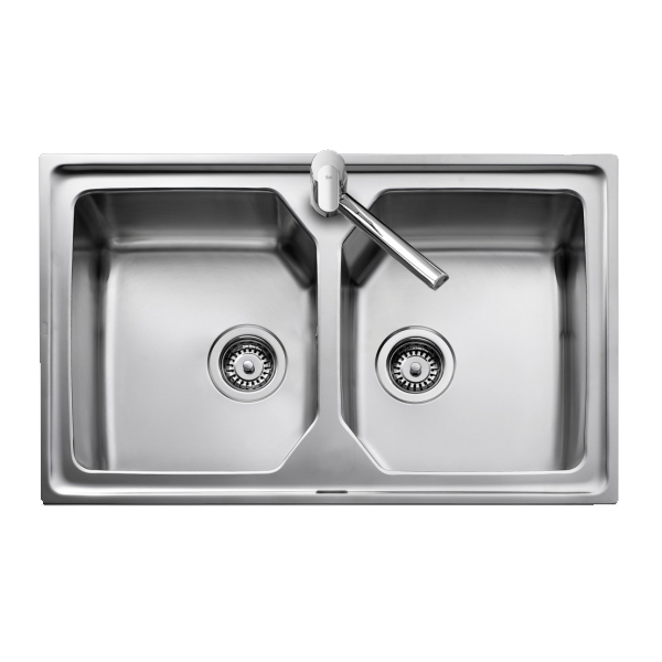 Sink with Two Basins Teka 8008 PREMIUM 2C Stainless steel