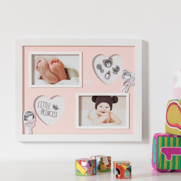 Wall photo frame Little Princess (4 Photos)