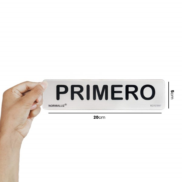 Adhesive Sign PRIMERO (20 x 5 cm) (Refurbished A+)