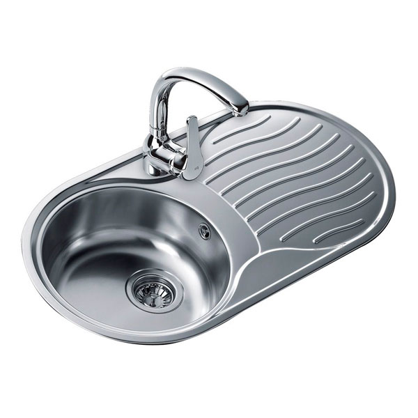 Sink with One Basin Teka 10110005 DR-80 1C1E Reversible Stainless steel
