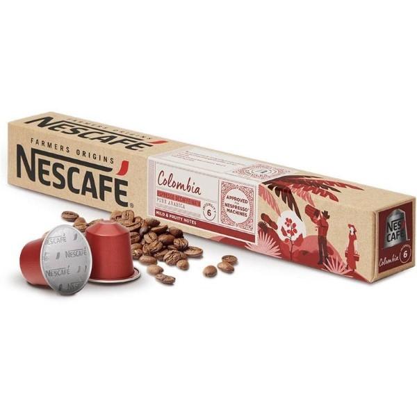Coffee Capsules FARMERS ORIGINS Nescafé COLOMBIA Decaffeinated (10 uds)