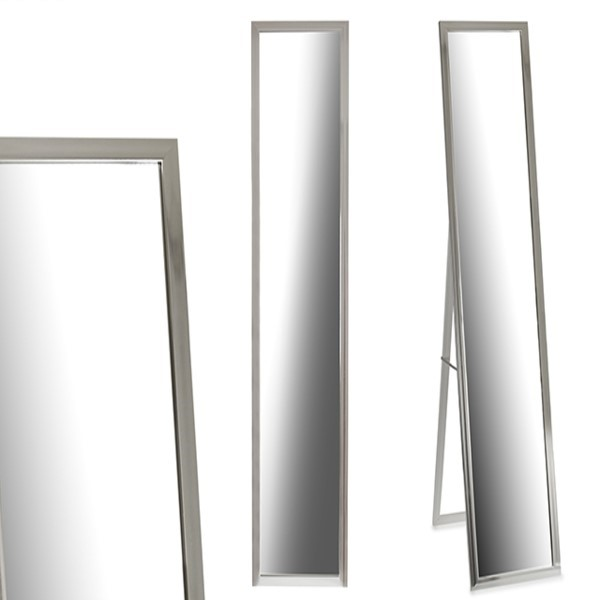 Free standing mirror Wood Silver (30 x 120 cm)