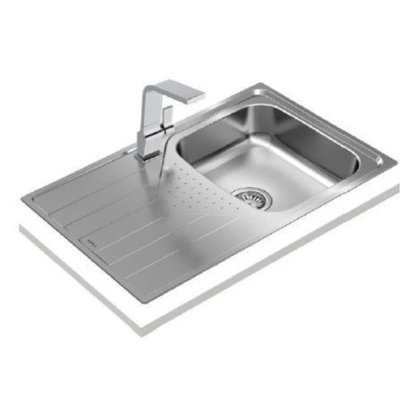 Sink with One Basin and Drainer Teka Universe 115110012 45 cm