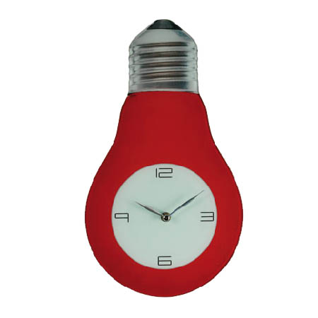 Light Bulb Glass Wall Clock